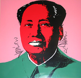 Mao Tse-Tung Kopf Rot-Gr&#252;n