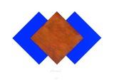 Quadrate Rost & Blau
