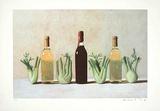 Graues Stilleben/Weinflaschen