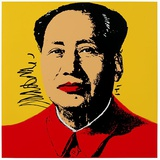 Mao Tse-Tung Kopf Beige-Rot