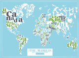 The World  2011 Political Map (Light Blue)