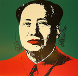 Mao Tse-Tung Kopf Gelb-Rot
