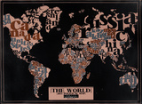 The World  2011 Political Map (Black)