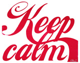 Keep Calm (Red &amp; White)