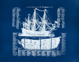 Old Ship Diagram (blue)
