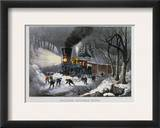 Railroad Snow Scene  1872