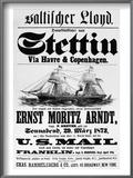 Steamship Poster  1873