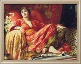 Leila (1892) Reproduction giclée encadrée par Frank Bernard Dicksee