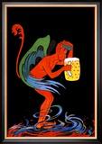 Biere au Diable Reproduction encadrée par Eugene Oge
