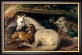 The Arab Tent, 1866 Reproduction giclée encadrée par Edwin Henry Landseer