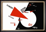 Drive Red Wedges into White Troops! Reproduction encadrée par Lazar Lisitsky