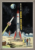 Friction Moon Rocket Reproduction encadrée