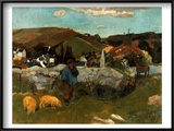 Gauguin: Swineherd  1888