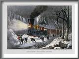 Railroad Snow Scene  1872