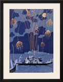 Fireworks in Venice  Illustration for &quot;Fetes Galantes&quot; by Paul Verlaine 1924