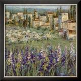 Village provençalI Reproduction encadrée par Michael Longo