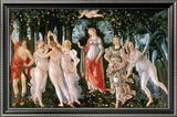 Primavera Reproduction encadrée par Sandro Botticelli