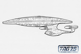 Star Trek: The Next Generation  Ship Line Art