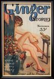 Ginger Stories, Erotica Pulp Fiction Magazine, USA, 1927 Reproduction encadrée