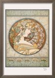 Laurier Reproduction encadrée par Alphonse Mucha