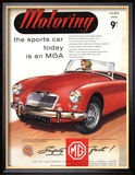 MG Convertibles, UK, 1950 Reproduction encadrée
