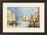 The Grand Canal  Venice  with Gondolas and Figures in the Foreground  circa 1818