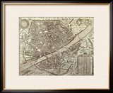 Map of Florence  1595