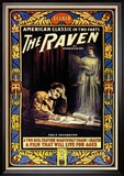 "Edgar Allen Poe's ""The Raven"""""" Reproduction encadrée"
