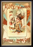 Alice in Wonderland and Through the Looking Glass Reproduction encadrée
