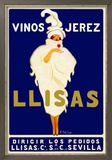 Vinos Jerez Llisas Reproduction encadrée