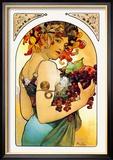 Fruits Reproduction encadrée par Alphonse Mucha