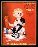 Mavis Talc Cats Talcum Powder, USA, 1920 Reproduction encadrée
