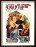 Bieres de le Meuse Reproduction encadrée par Alphonse Mucha