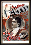 Harry Houdini: King of Cards Reproduction encadrée