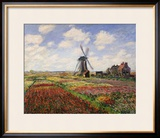 Tulip Fields with the Rijnsburg Windmill  1886