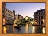 Le pont de Rialto, Grand Canal, Venise, Italie Photo encadrée par Alan Copson