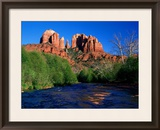 Cathedral Rock Above Oak Creek at Red River Crossing  Sedona  Arizona