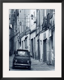 Fiat Driving in Narrow Street  Sassari  Sardinia  Italy