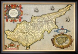 Map of the Island of Cyprus