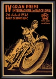 4th International Barcelona Grand Prix Reproduction encadrée
