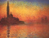 Dusk Reproduction d'art par Claude Monet