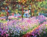 Le jardin de l'artiste à Giverny, vers 1900 Reproduction d'art par Claude Monet