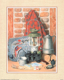 Camping & Hunting still life Art Print Poster