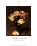 Henri Fantin-Latour (Pink and White Roses) Art Poster Print