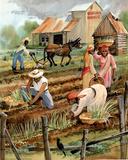 Planting Time Print POSTER black slaves slavery wrong