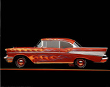 Ron Kimball 1957 Chevrolet Bel Air with Flames POSTER