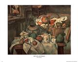 Paul Cezanne Still Life Basket Art Print POSTER pears