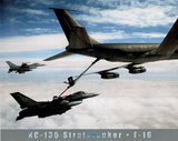 US Army KC-135 Stratotanker Art Print POSTER USA F-16