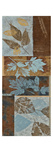 Blue Fusion Panel II - mini - Geometric Leaves in Blue and Brown