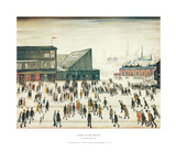 Going to the Match Reproduction d'art par Laurence Stephen Lowry